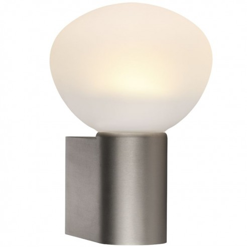 Nordlux IP S3 Wall Light - Brushed Steel
