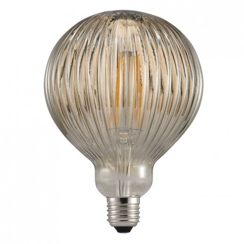 Nordlux Avra 2W LED E27 Filament Bulb Striped Amber