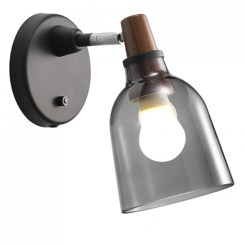 Nordlux Karma 14 Wall Light - Smoked Glass