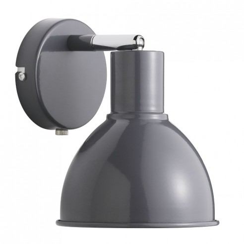 Nordlux Pop Retro Wall Light - Anthracite