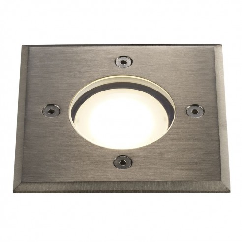 Nordlux Pato Square Ground Light GU10 - Brushed Steel