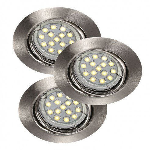 Nordlux Triton 3-Set LED SMD Built-in - Brushed Steel