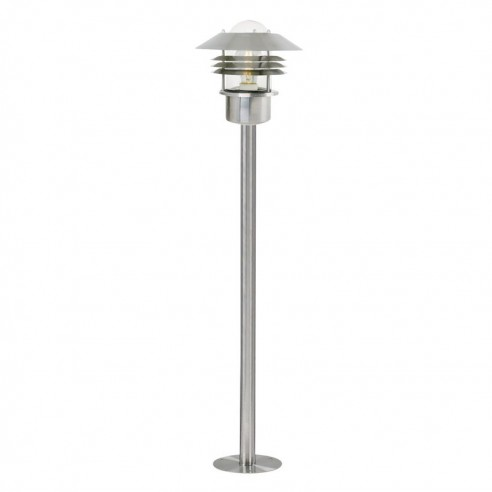 Nordlux Vejers E27 Garden Post Light - Stainless Steel