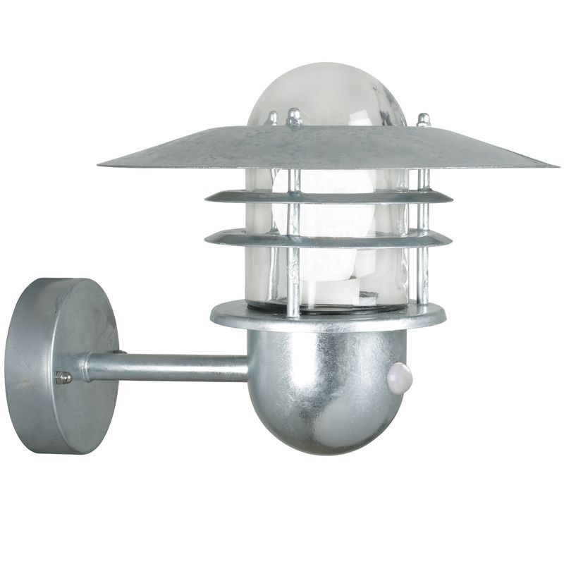 Nordlux agger outdoor wall light wsensor galvanised aloadofball Gallery