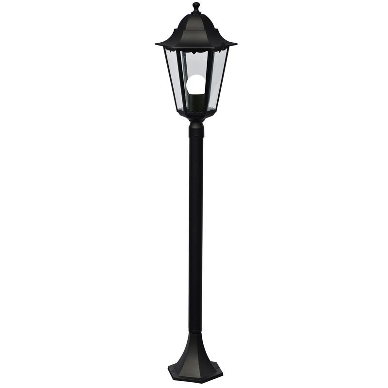 Nordlux cardiff e27 garden post light black aloadofball Image collections