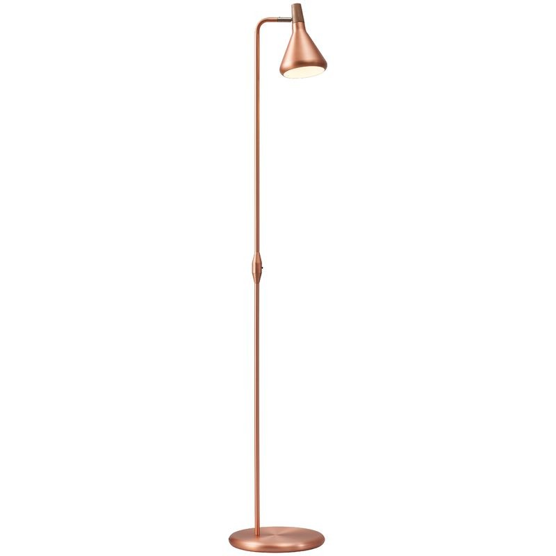 Nordlux float floor lamp gu10 copper floor lamps lamps for Copper floor lamp adelaide