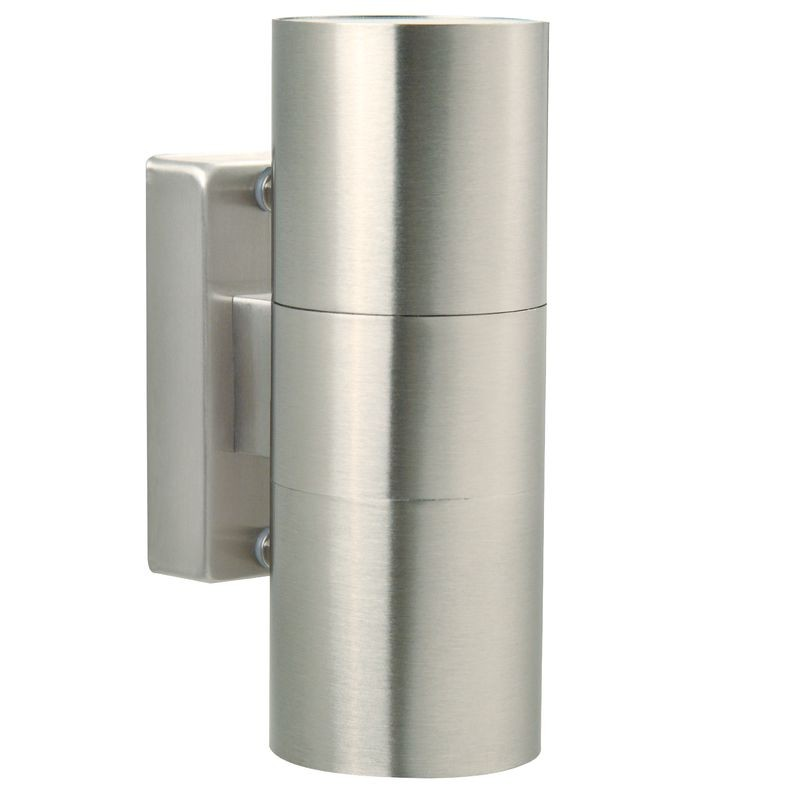 Nordlux tin double outdoor wall light stainless steel aloadofball Gallery