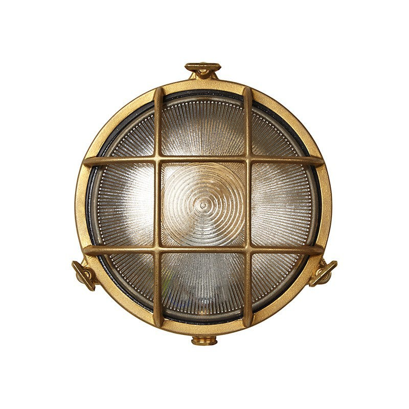 Uber lamp rock outdoor wall light brass aloadofball Choice Image