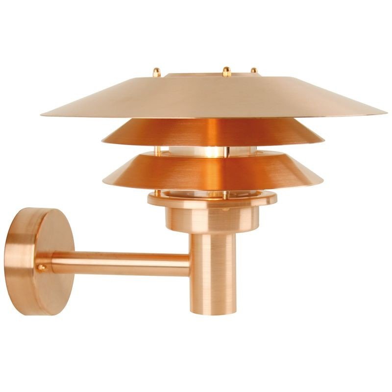 Copper Garden Wall Lights : Nordlux Ven? Outdoor Wall Light - Copper