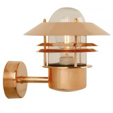 Nordlux Blokhus Up E27 Outdoor Wall Light - Copper