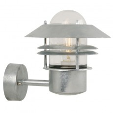 Nordlux Blokhus Up E27 Outdoor Wall Light - Galvanised
