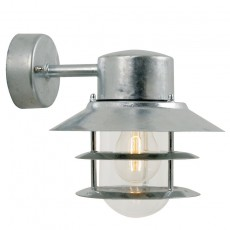 Nordlux Blokhus Down E27 Outdoor Wall Light - Galvanised