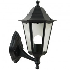 Nordlux Cardiff Up Wall Lantern - Black