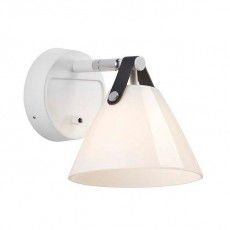 DFTP Nordlux Strap 15 Glass Wall Light White Opal 46241001