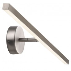 Nordlux IP S13 60 LED Wall Light - Brushed Steel