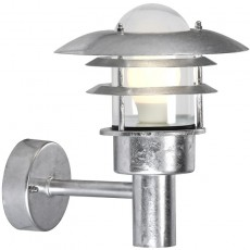 Nordlux Lonstrup 22 Outdoor Wall Light - Galvanised