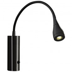 Nordlux Mento 3W Flexible LED Wall Light - Black