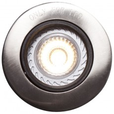 Nordlux Mixit Pro Built-In GU10 Downlight - Brushed Steel