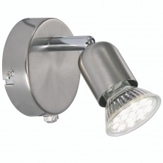 Nordlux Avenue LED Wall Spotlight - Brushed Steel