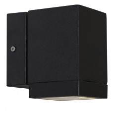 Nordlux Qubo Single Outdoor Wall Light - Black