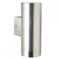 Nordlux Tin Maxi Double Outdoor Wall Light - Aluminium