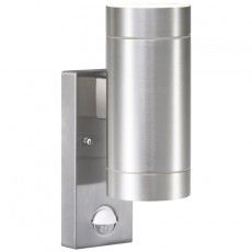 Nordlux Tin Maxi Double Wall Light With Sensor - Aluminium