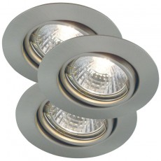 Nordlux Triton 3-Kit GU10 Downlights - Brushed Steel