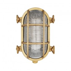 Uber Lamp Looe Outdoor Bulkhead Wall Light - Brass