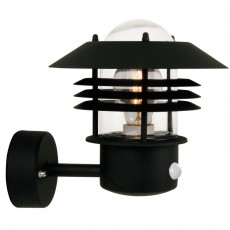 Nordlux Vejers Up Outdoor Wall Light W/Sensor - Black