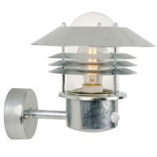 Nordlux Vejers Up Outdoor Wall Light W/Sensor - Galvanised