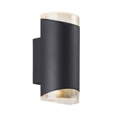 Nordlux Arn Outdoor Up Down Wall Light - Black