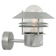 Nordlux Blokhus Up Wall Light W/Sensor - Galvanised