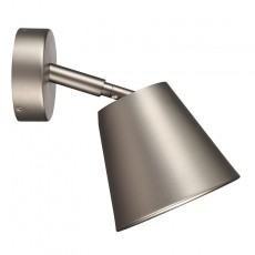 Nordlux IP S6 Wall Light With Shade - Brushed Steel