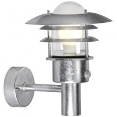 Nordlux Lonstrup 22 Wall Light W/Sensor - Galvanised