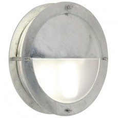 Nordlux Malte Half Shade Outdoor Wall Light - Galv Steel