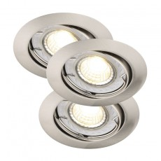 Nordlux Recess 3-Kit LED COB Dimmable - Brushed Steel