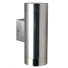 Nordlux Tin Maxi Double Outdoor Wall Light - Brushed Steel