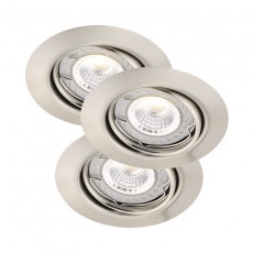 Nordlux Triton 3-Kit LED COB Dimmable - Brushed Steel
