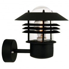 Nordlux Vejers Up Outdoor Wall Light - Black