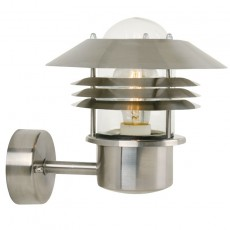Nordlux Vejers Up Outdoor Wall Light - Stainless Steel