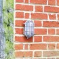 Uber Lamp Looe Garden Bulkhead Wall Light - Nickel