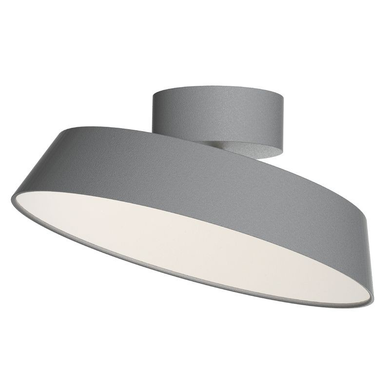 Ceiling Lights Grey : Nordlux alba led ceiling light grey