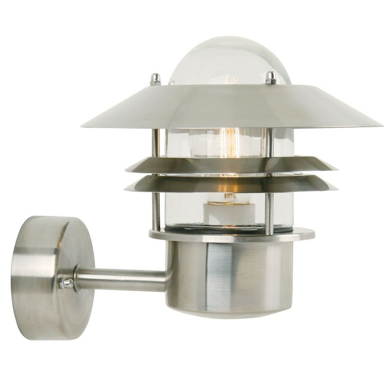 Nordlux Blokhus Up Outdoor Wall Light - Stainless Steel