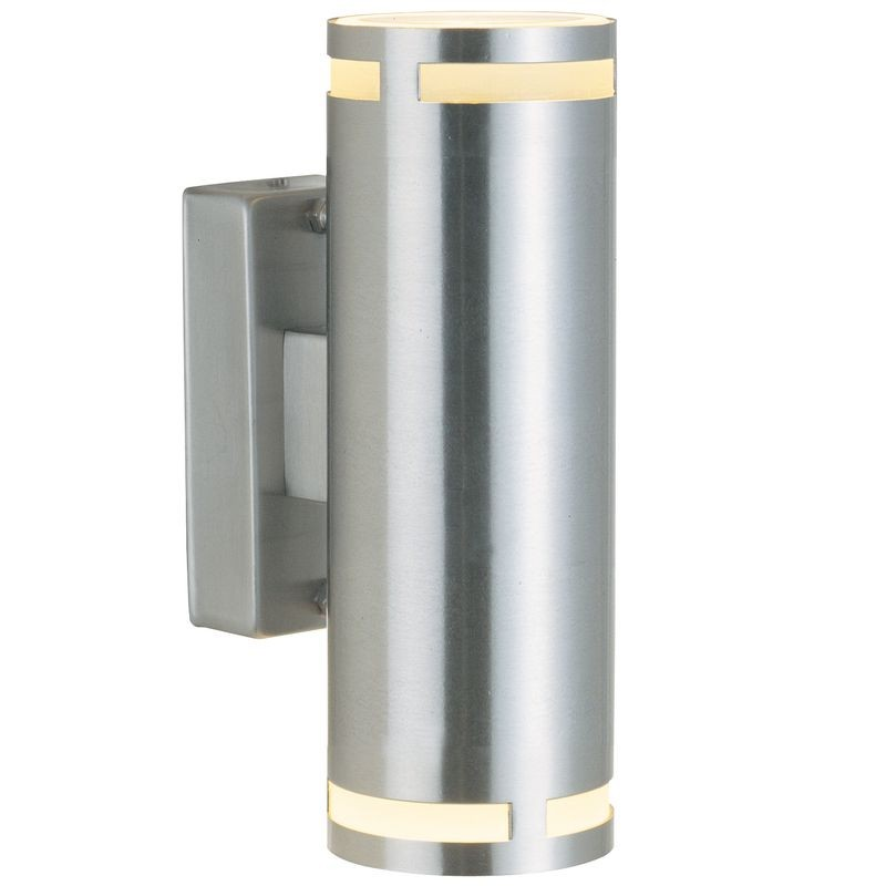 Double Wall Light External : Nordlux Can Double Outdoor Wall Light - Stainless Steel