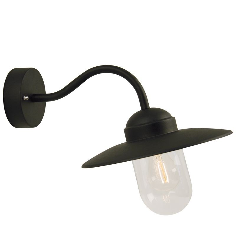 Nordlux luxembourg outdoor wall light black for Applique luminaire exterieur