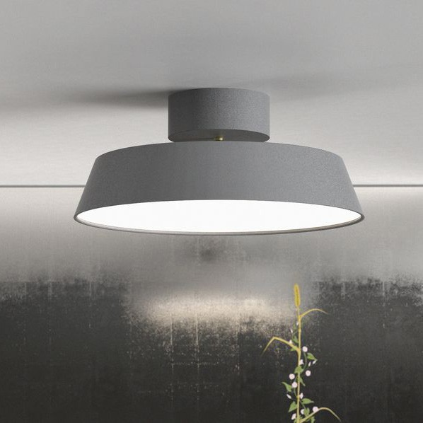 Ceiling Lights Grey : Nordlux alba led ceiling light grey semi flush lights