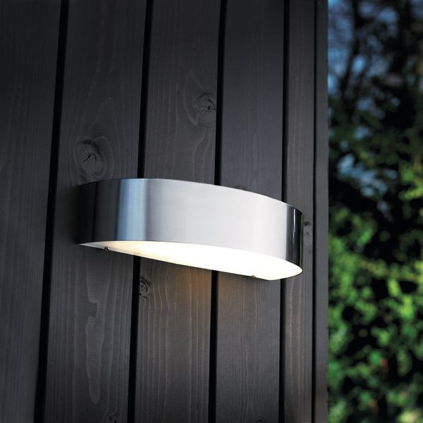 Wall Mounted Arc Lights : Nordlux Arc 10W Outdoor Wall Light - Stainless Steel