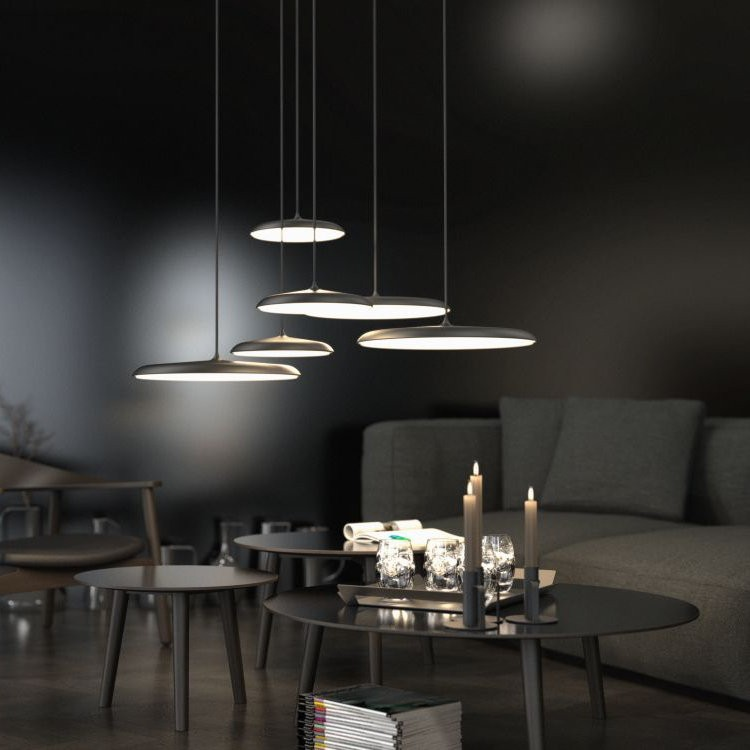 Dftp nordlux artist 40 led ceiling pendant light black ceiling black nordlux artist black pendants aloadofball Choice Image