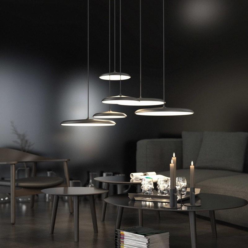 Dftp nordlux artist 25 led ceiling pendant light black nordlux artist black ceiling lights interior mozeypictures Images