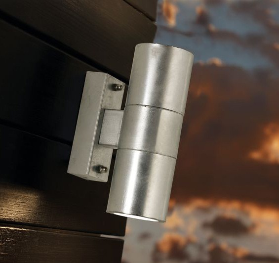 Nordlux Castor Double Outdoor Wall Light - Galvanised